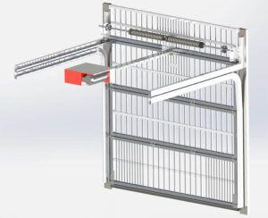 نحوه عملکرد درب سکشنال پارکینگ رو به بالا از لحاظ مکانیسم باز و بسته شدن